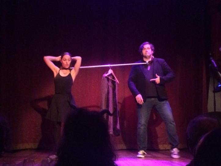 "Patrice Miller and Jeremy Barker perform ""Two Bound, or How I Learned to Love the Coat Rack: A Surreal Vaudeville Dance"" to the tune of the Velvet Underground's ""She's My Best Freind"