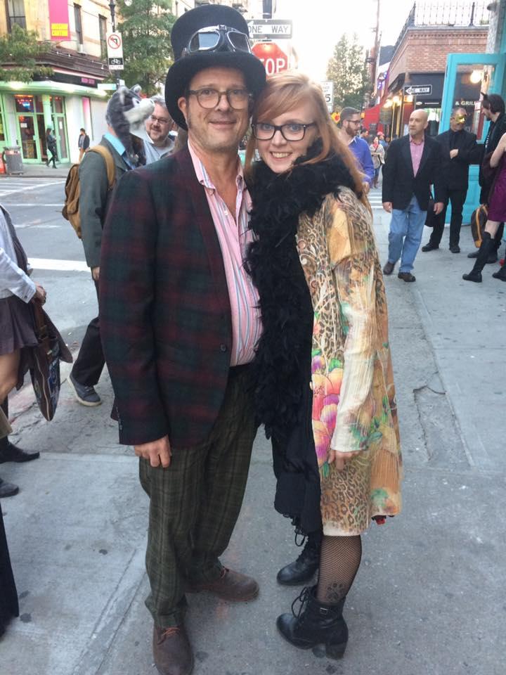 Radio Free Brooklyn's Robert Prichard and Rachel Cleary arriving