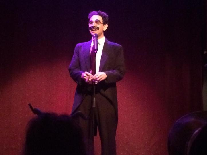 "Noah Diamond, the man behind the recent revival of the Marx Brothers' ""I'll Say She Is"", knocks 'em dead as Groucho"