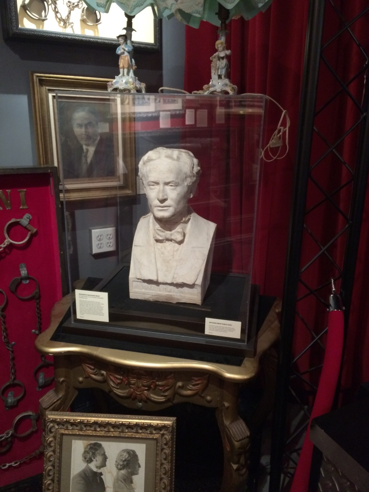 This bust, modelled from life, was removed from Houdini's grave monument in Queens