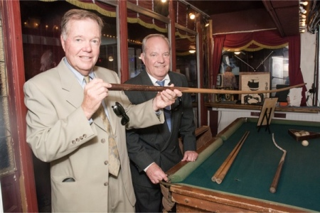 Fields' grandsons Alan and Rob and the pool table at the Magic Castle. Ron is one of the foremost and best of Fields' biographers