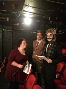 Stage manager Sarah Lahue, Matt Roper, Noah Diamond