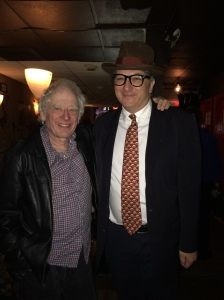 with Austin Pendleton following his Christmas show at Pangea