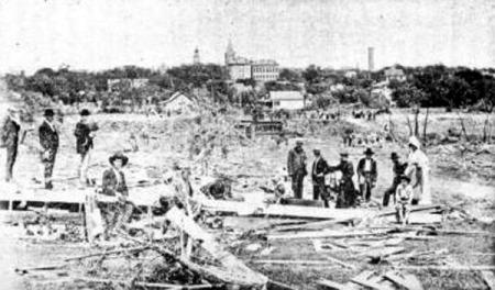 Aftermath of Sherman tornado