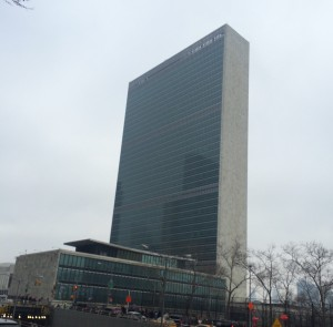 We joined the throngs across from the U.N. -- an inspirational starting point!