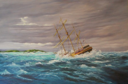 """Wreck of the Sea Venture"" by Bermuda artist Christopher Grimes"