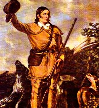 Davy Crockett -- once wrassled a b'ar