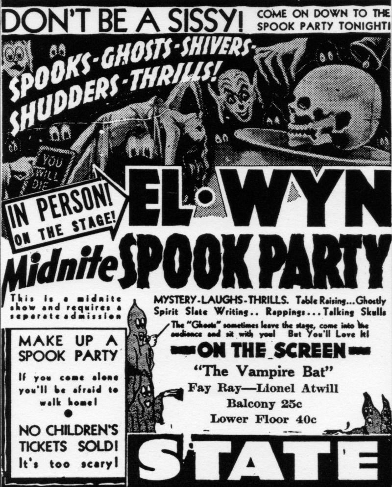 el wyn spook show innovator travalanche Urban Culture and then in the 1970s horror itself had changed away from the traditional goth iconography and towards the quotidian