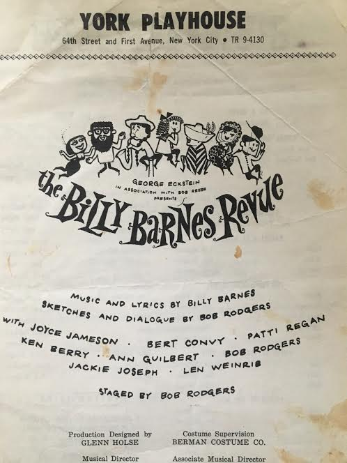 Billy barnes revue Program