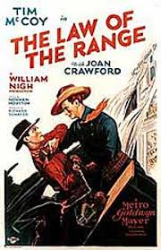 Law of the Range poster starring Tim McCoy and Joan Crawford